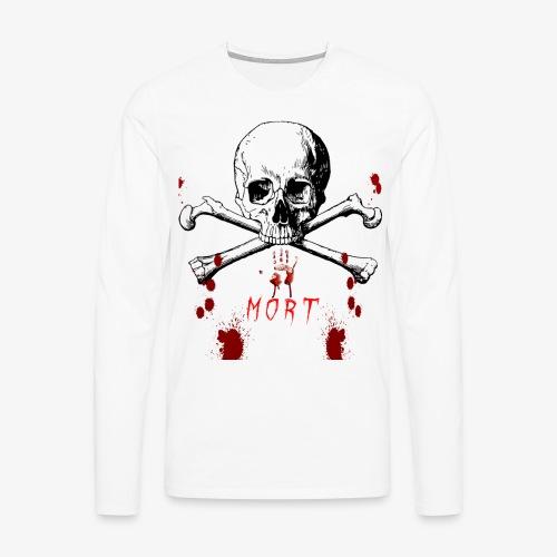 Mort design avec sang - T-shirt manches longues Premium Homme