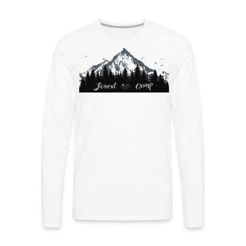 foresta - Maglietta Premium a manica lunga da uomo
