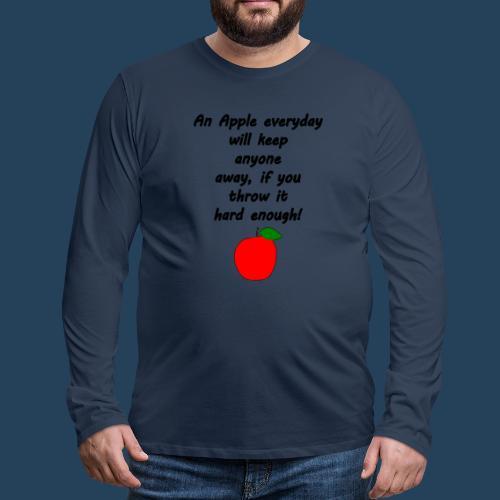 Apple Doctor - Männer Premium Langarmshirt