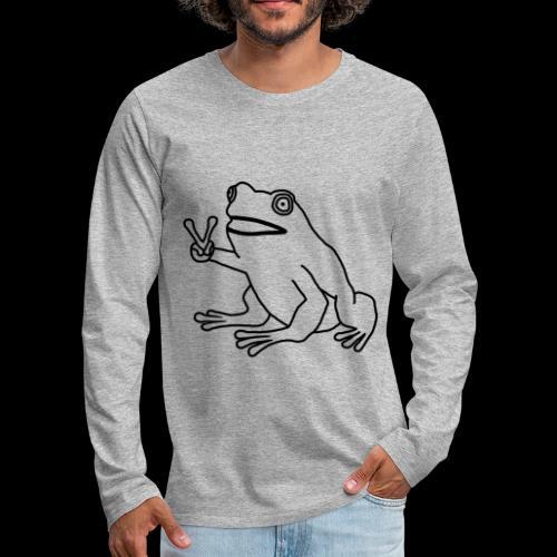 Funny Animal Frog Frosch - Männer Premium Langarmshirt
