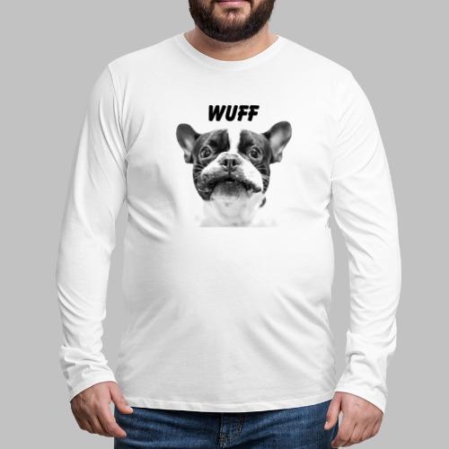 Wuff - Hundeblick - Hundemotiv Hundekopf - Männer Premium Langarmshirt