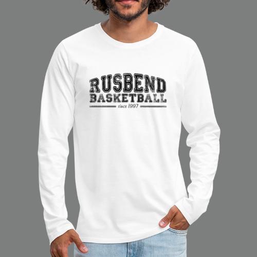 Rusbend Logo Schwarz - Männer Premium Langarmshirt