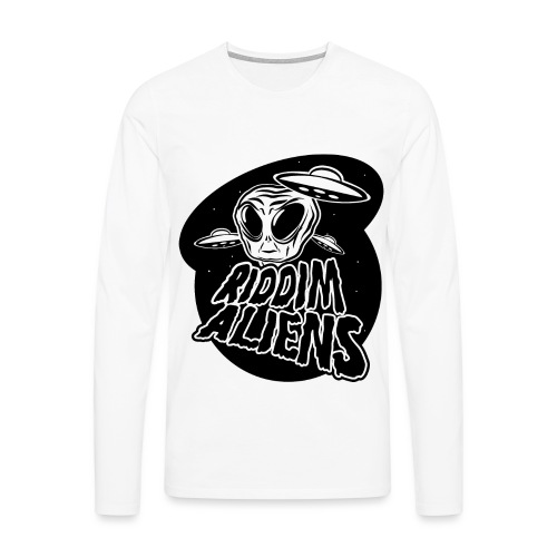 Alien (White Design) - Men's Premium Longsleeve Shirt