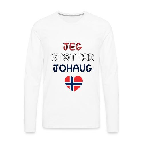 johaug - Premium langermet T-skjorte for menn