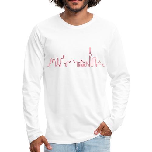 Skyline Berlin - Koszulka męska Premium z długim rękawem