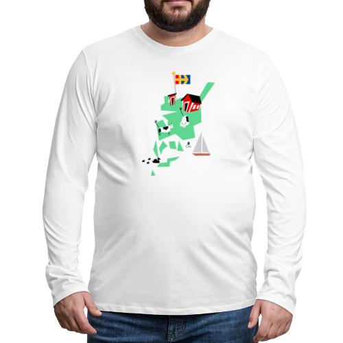 Åboland × Eva: Livet på landet - Miesten premium pitkähihainen t-paita
