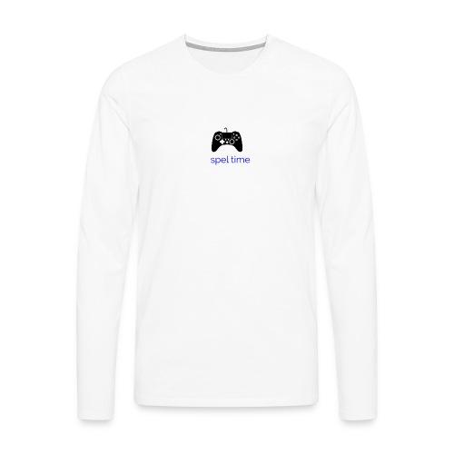 spel time - Långärmad premium-T-shirt herr