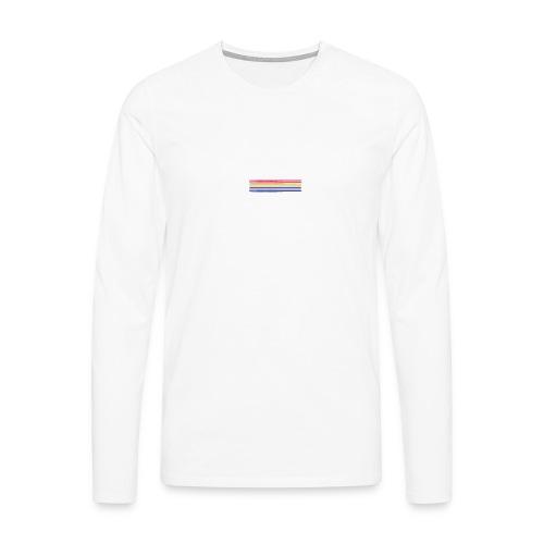 Colored lines - Men's Premium Longsleeve Shirt