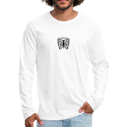 Ett motiv föreställandes en fjäril. - Långärmad premium-T-shirt herr