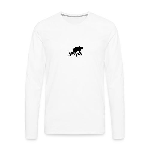 papa beer - Mannen Premium shirt met lange mouwen