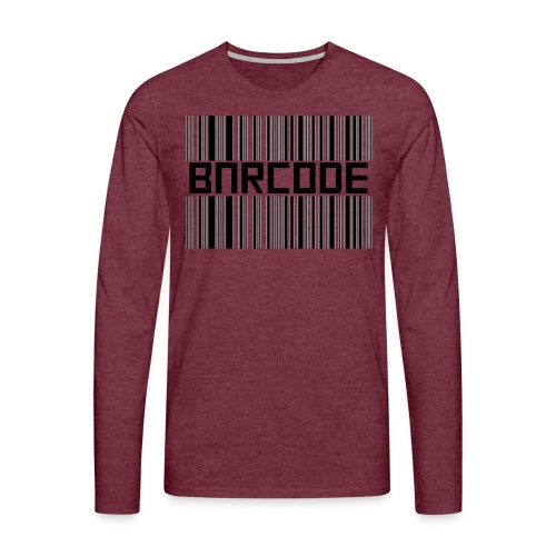 BARCODE WHITE - Men's Premium Longsleeve Shirt
