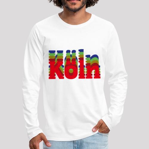 Köln - Stadtnamen rot - Männer Premium Langarmshirt