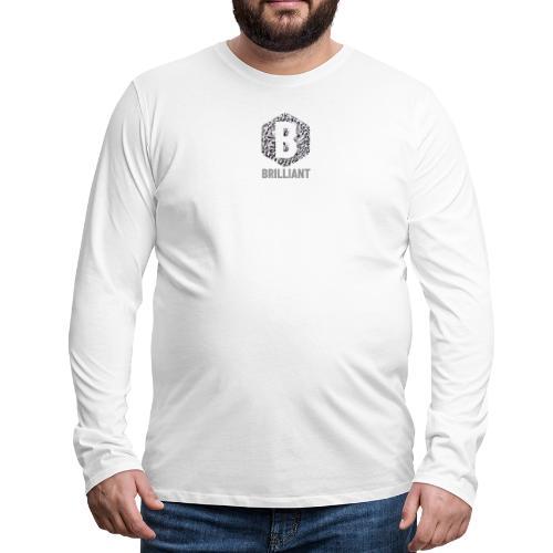 B brilliant grey - Mannen Premium shirt met lange mouwen