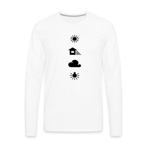 Weissabgleich - Männer Premium Langarmshirt