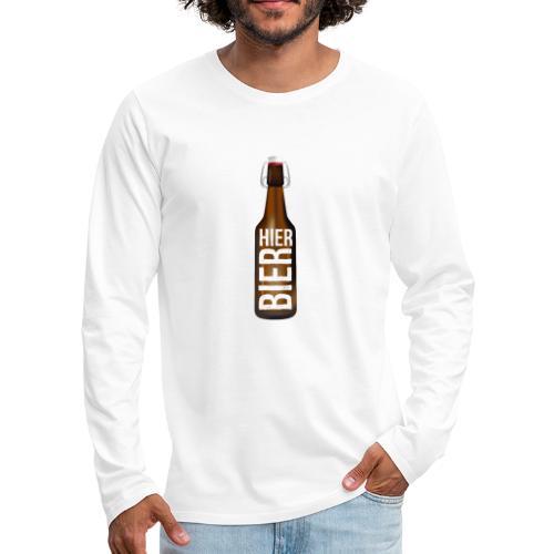 Hier Bier - Shirt - Männer Premium Langarmshirt