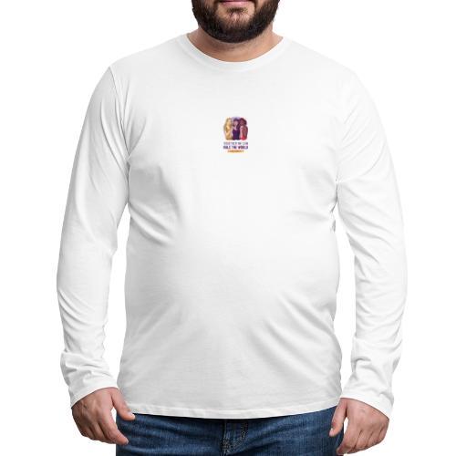 t shirt design generator featuring three women - Camiseta de manga larga premium hombre