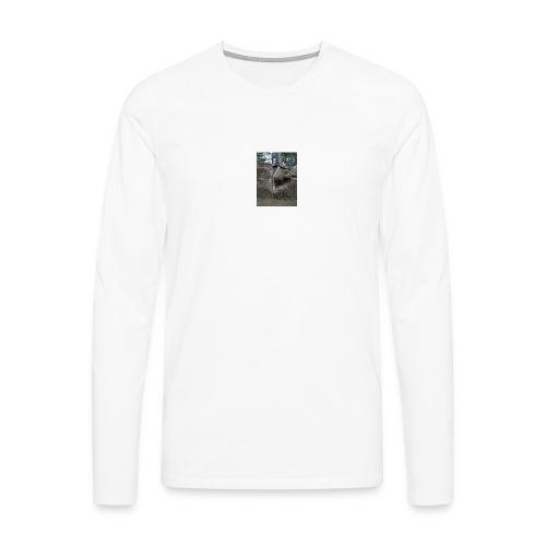 Juuret tukevasti maassa - Miesten premium pitkähihainen t-paita