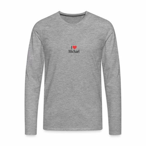 Michael designstyle i love Michael - Men's Premium Longsleeve Shirt