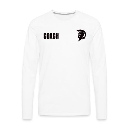Coach Oberbekleidung Weiss - Männer Premium Langarmshirt