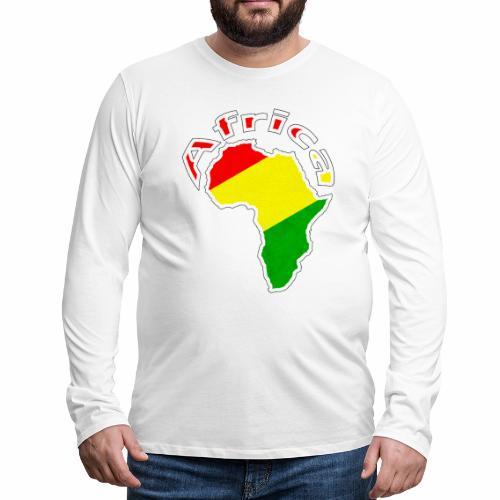 Afrika - rot gold grün - Männer Premium Langarmshirt