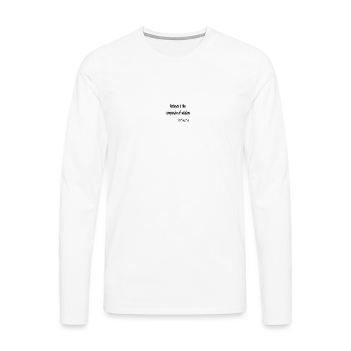 Peace and Wisdom - Men's Premium Longsleeve Shirt