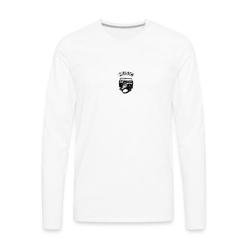 musik1 - Herre premium T-shirt med lange ærmer