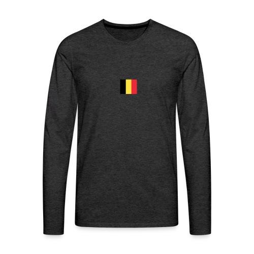 vlag be - Mannen Premium shirt met lange mouwen