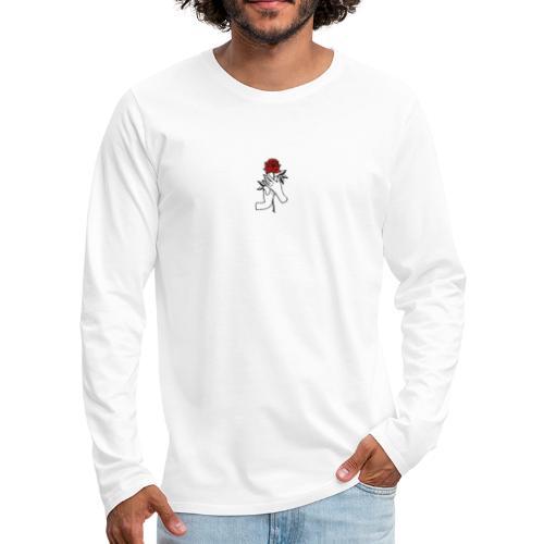 Fiore rosso - Maglietta Premium a manica lunga da uomo