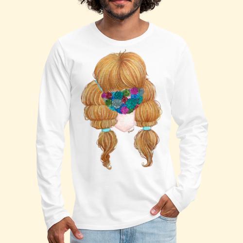Fille masquée aux succulentes - T-shirt manches longues Premium Homme