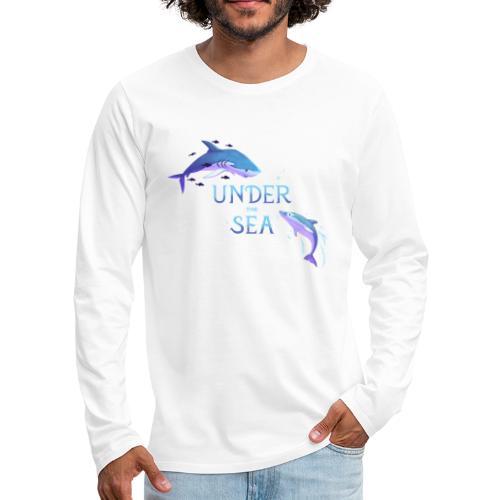 Under the Sea - Requin et dauphin - T-shirt manches longues Premium Homme