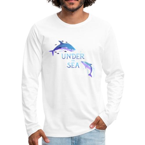 Under the Sea - Shark and Dolphin - Men's Premium Longsleeve Shirt