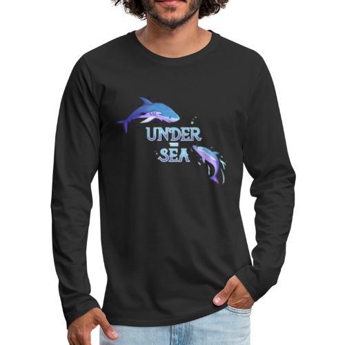 Under the Sea - Shark and Dolphin - Men's Premium Longsleeve Shirt