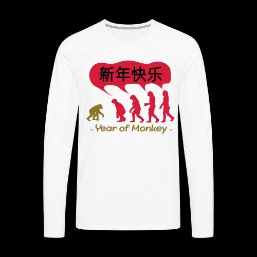 kung hei fat choi monkey - Men's Premium Longsleeve Shirt