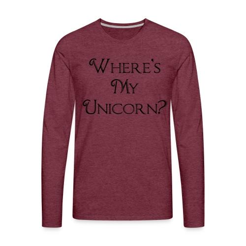 Where's My Unicorn - Men's Premium Longsleeve Shirt