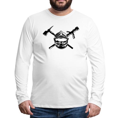 casque_pompier_hache et lance - T-shirt manches longues Premium Homme