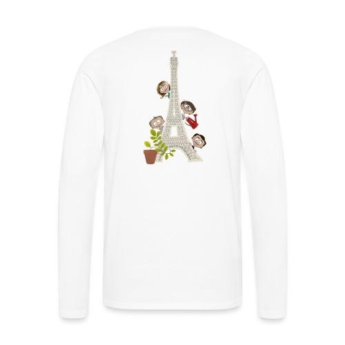 LPS-VOEUX-tour-eiffel - T-shirt manches longues Premium Homme