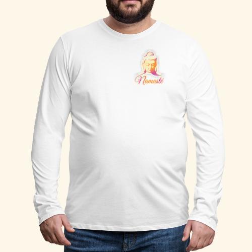 Buddha - Namasté - Männer Premium Langarmshirt