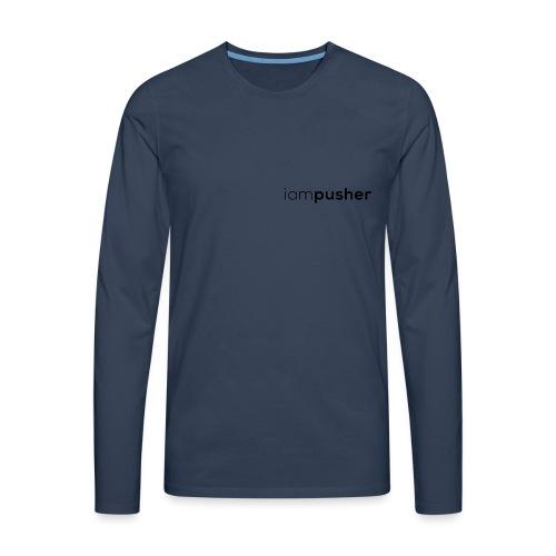 IAMPUSHER - Maglietta Premium a manica lunga da uomo