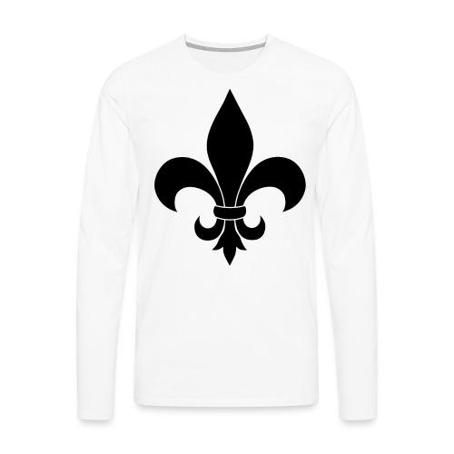 ranskan lilja - Miesten premium pitkähihainen t-paita