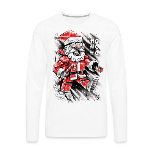 Robot Santa Claus - Men's Premium Longsleeve Shirt