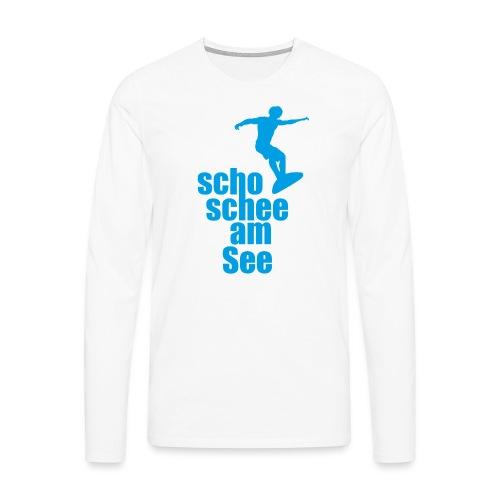 scho schee am See Surfer 02 - Männer Premium Langarmshirt