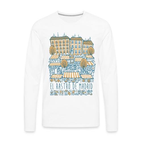 EL RASTRO DE MADRID - Camiseta de manga larga premium hombre