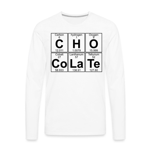 C-H-O-Co-La-Te (chocolate) - Full - Men's Premium Longsleeve Shirt
