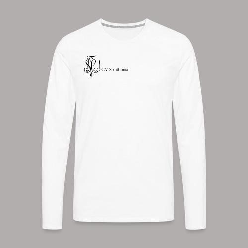 Zirkel mit Name, schwarz (vorne) - Männer Premium Langarmshirt
