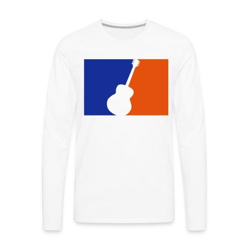 Gitarre (Baseball Style) - Männer Premium Langarmshirt