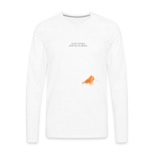 Ketchupvlek - Mannen Premium shirt met lange mouwen