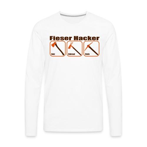 Fieser Hacker - Holz, Unkraut, Stein - Männer Premium Langarmshirt