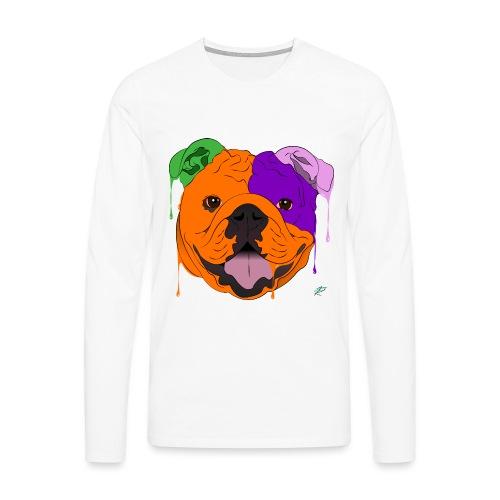 Bulldog - Maglietta Premium a manica lunga da uomo
