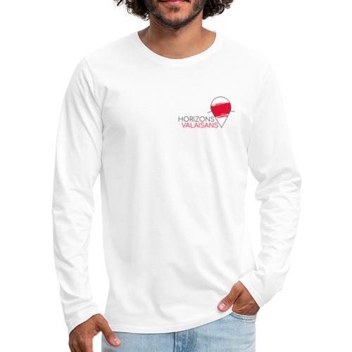 Horizons Valaisans (noir) - T-shirt manches longues Premium Homme