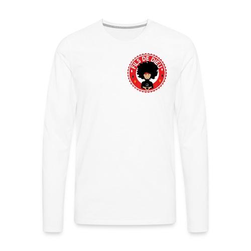 Fils de Dieu rouge - T-shirt manches longues Premium Homme